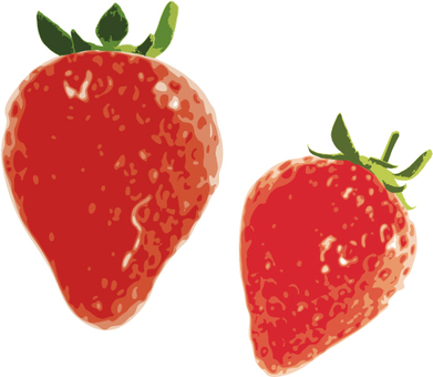 Realistic strawberries