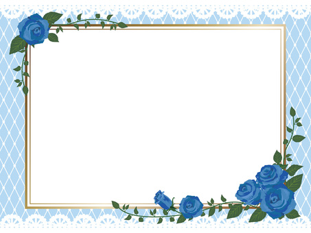 Blue rose gothic frame side 01