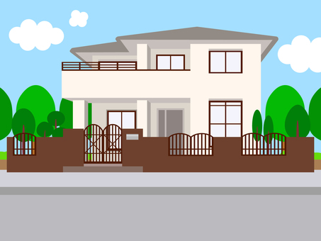 Simple background house exterior