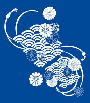 Daisy ripple (white)