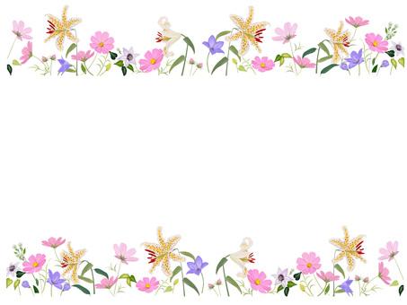 Autumn flower frame