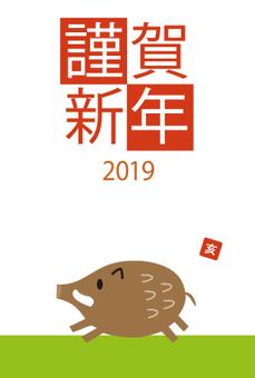 New Year cards 2019 Hai Lawn lawn 2-5