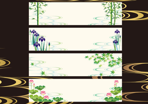 Assorted frame of Japanese pattern