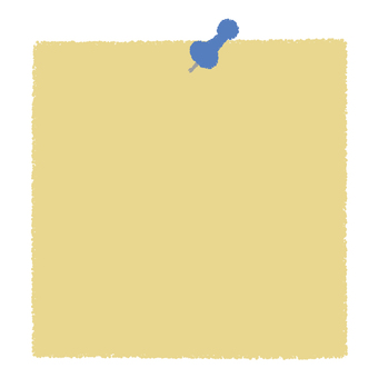 Push pin and memo paper _ blue