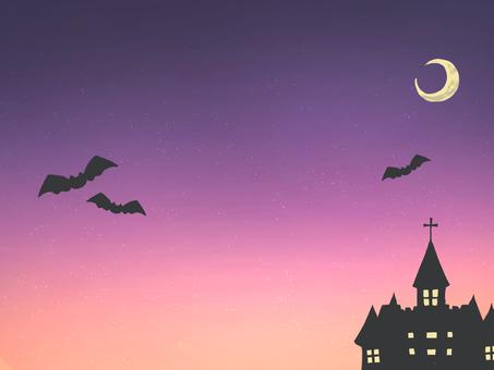 Halloween sky and castle