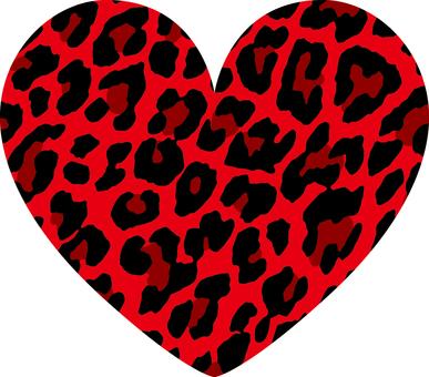 Heart _ leopard handle _ bigger _ red