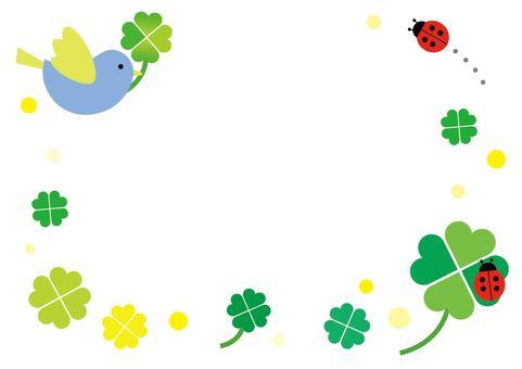 Bird and clover frame