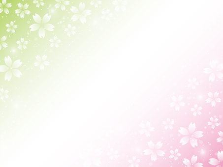 Cherry blossom background material (pink × yellowish green)