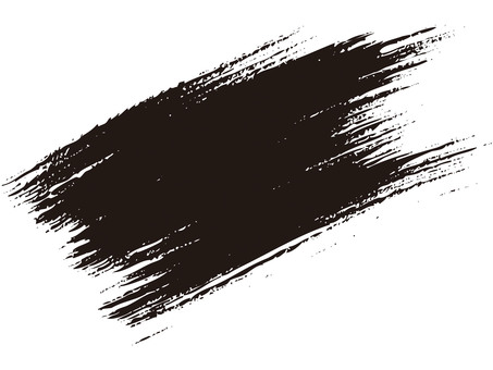 Brush line (crisp, black ink)