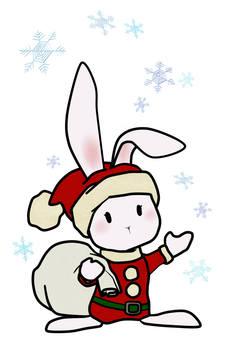 토끼의 산타 white