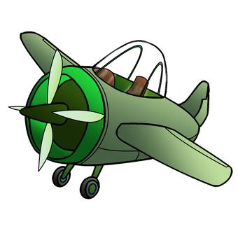 可愛的綠色飛機