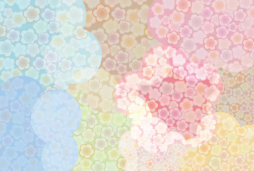 Plum Japanese pattern frame background