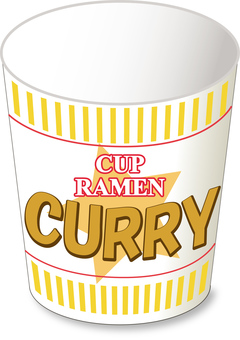 Cup noodle curry _ empty container