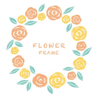 꽃 프레임 장미