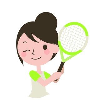 A woman to play tennis