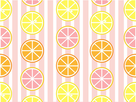 Citrus and stripes (pink)