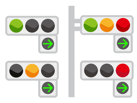 Signal traffic light sign