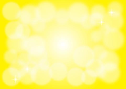 반짝이 배경 중앙 노란색