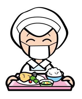 烹飪老師攜帶午餐