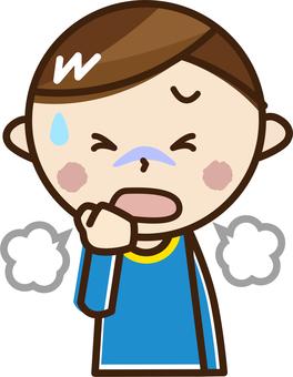 A boy who coughs _ A 32