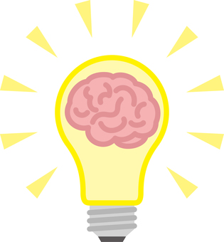 Light bulb brain idea inspiration