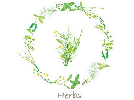 Herb bouquets and leases