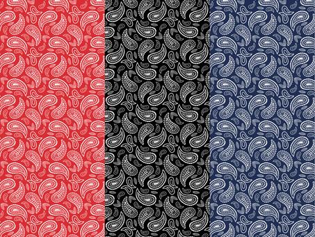 Paisley pattern fashionable 3 color textile