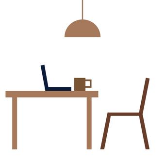 圖像在咖啡廳/房間等工作