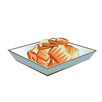 Boiled horse mackerel