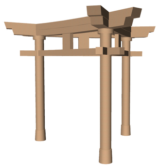 Three Pillar Torii