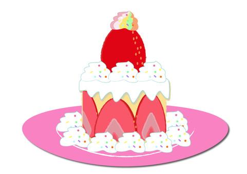 strawberry_ strawberry cake 1