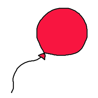 Balloon red / pink
