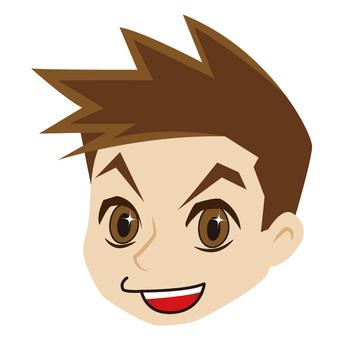Cheerful face