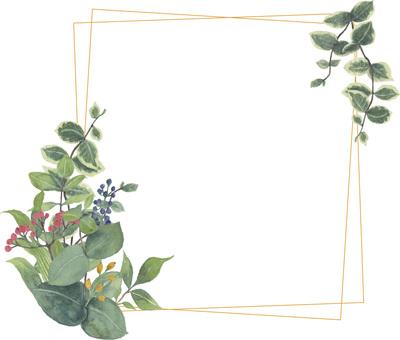 Plant Gold Orange Frame 3
