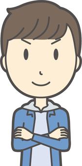 Junior high school boy's plain clothes -389-bust