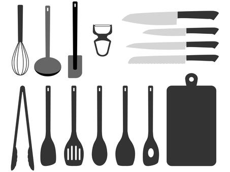 Kitchen tool set monotone