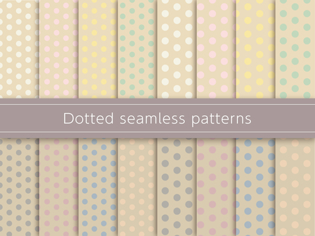 Dot pattern swatch colorful