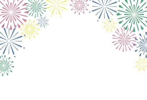 Fireworks frame paper