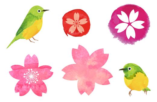 水彩般的春天插图