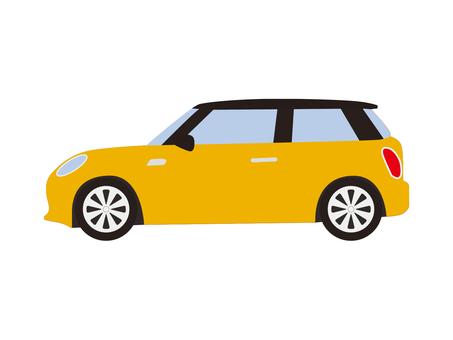 Compact car (Yellow)