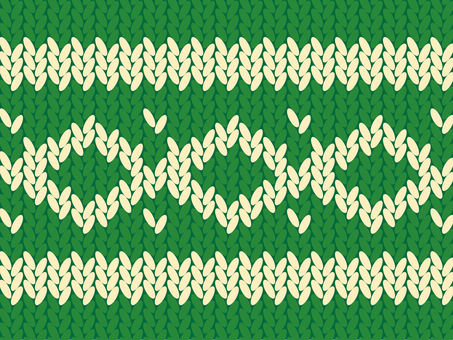 Card_ knitting_ green