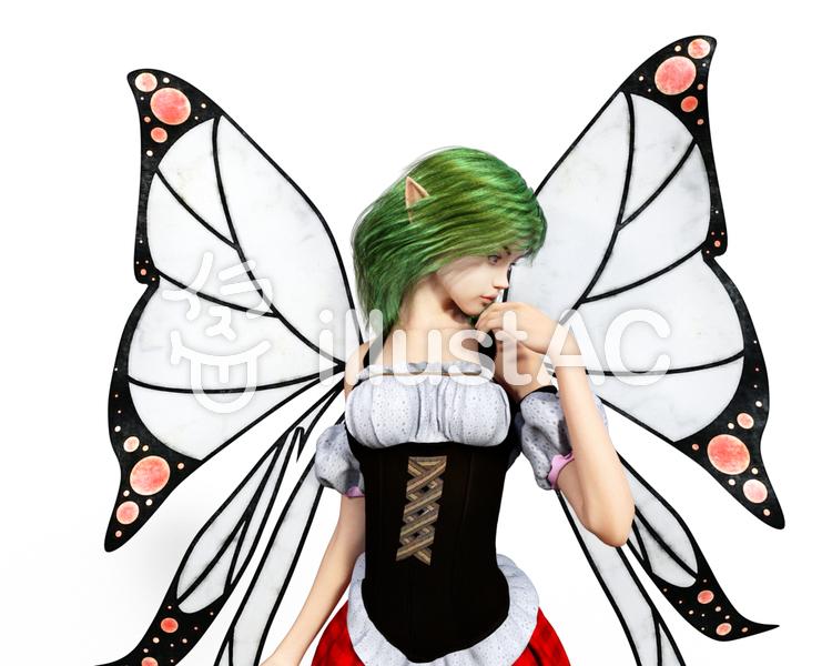 妖精メイドのイラスト