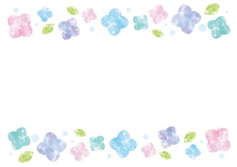 Watercolor Flower Frame 01