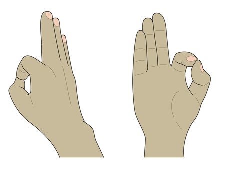 손 (OK 사인)