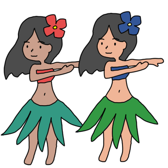 Hula with two people
