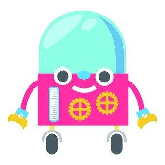 Capsule type running robot (pink)