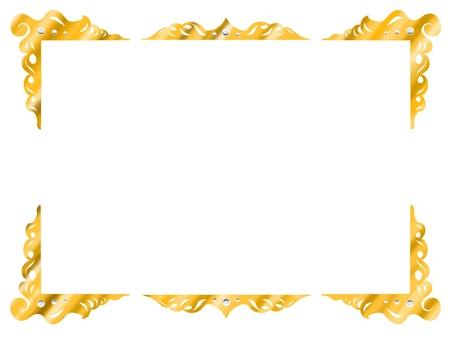金のフレーム1