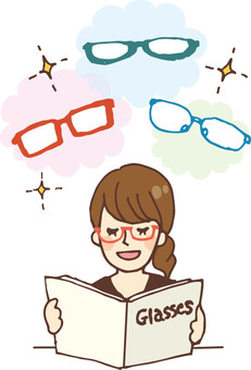 People who read books (catalog · glasses)