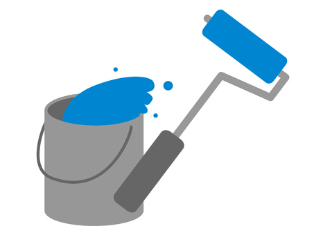 Blue roller and bucket
