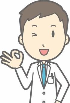 Young doctor - okay - bust